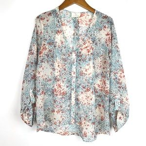 Anthropologie Pins and Needles Floral Blouse